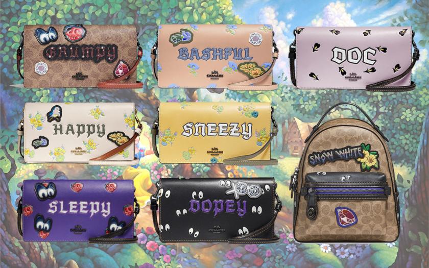 Disney x Coach snow white seven dwarfs handbags
