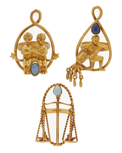 givenchy zodiac jewels air signs rings