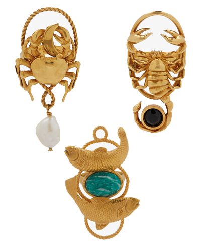 givenchy zodiac jewels water signs rings