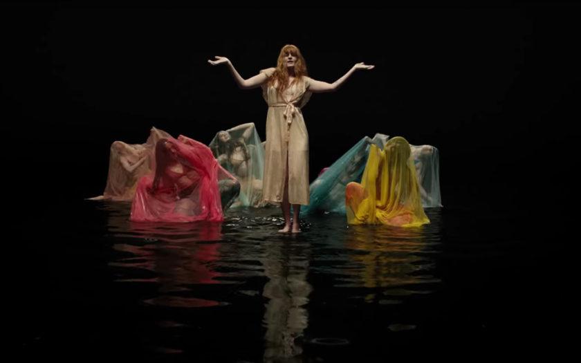 screenshot from big god music video