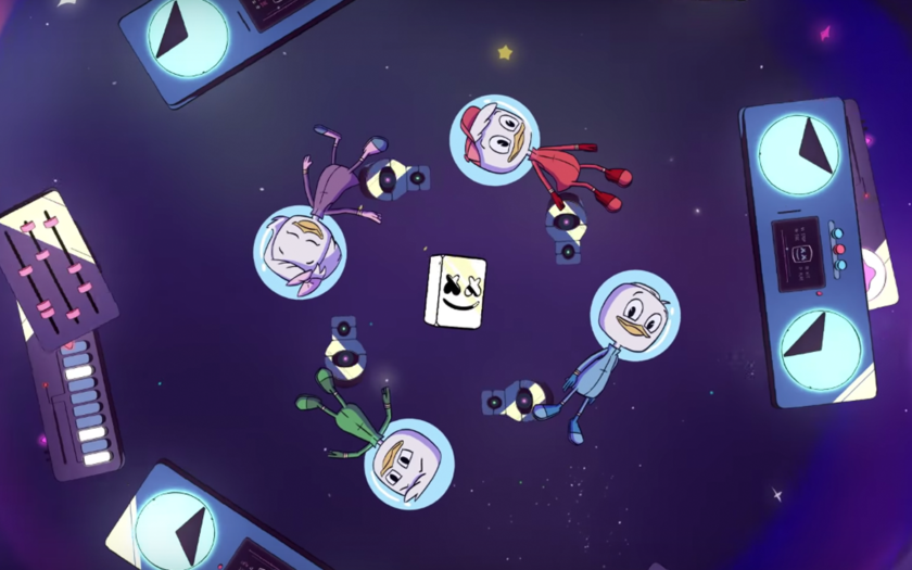 screenshot from fly music video by marshmeloo