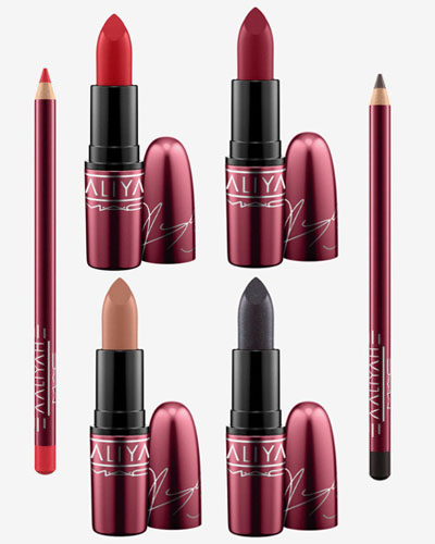mac cosmetics x aaliyah lipstick and pencil