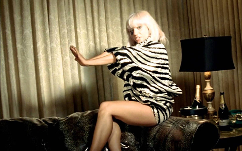 screenshot from lady gaga just dance music video