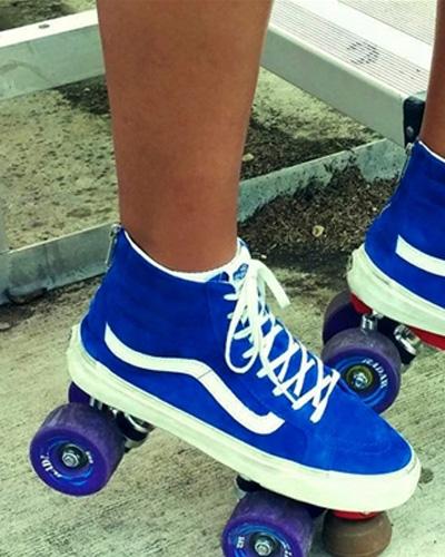 roller skate vans royal blue hi tops