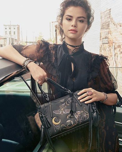 Selena Gomez models for coach fall 2018
