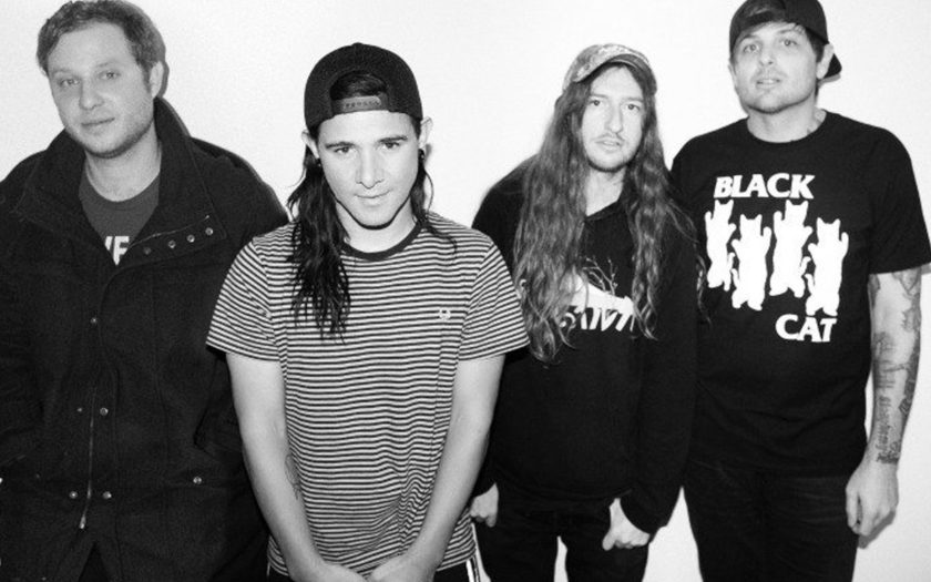 Skrillex with his old band From FIrst to Last