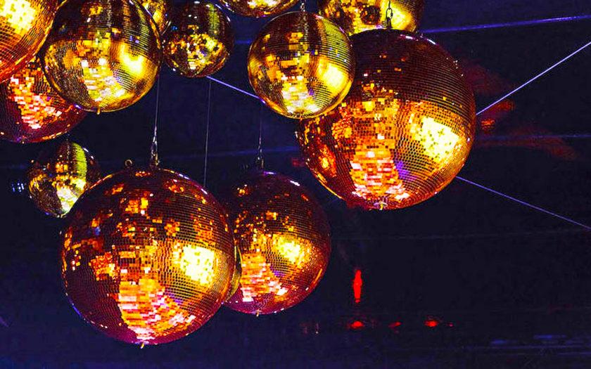 gold disco balls so shiny
