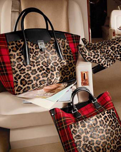 michael kors aw18 leopard plaid handbags totes