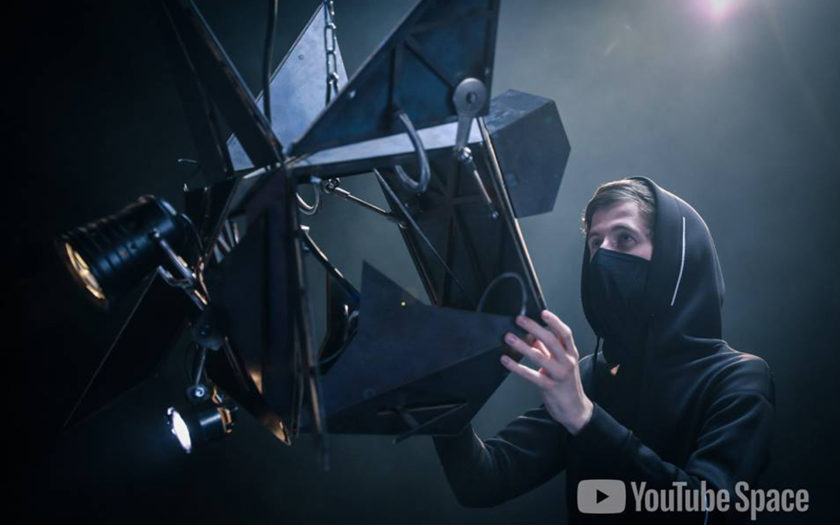 alan walker plays with drones at youtube space berlin