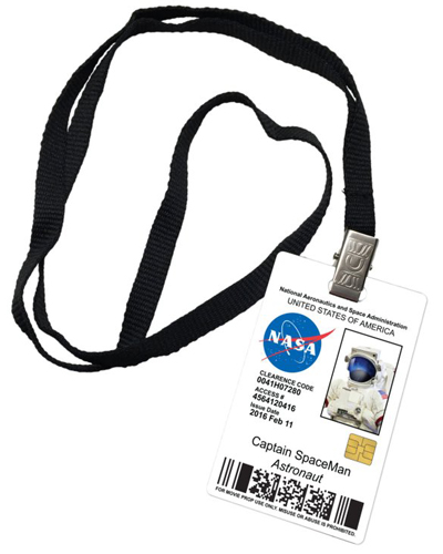 Captain Spaceman Nasa Novelty ID Badge Prop Costume