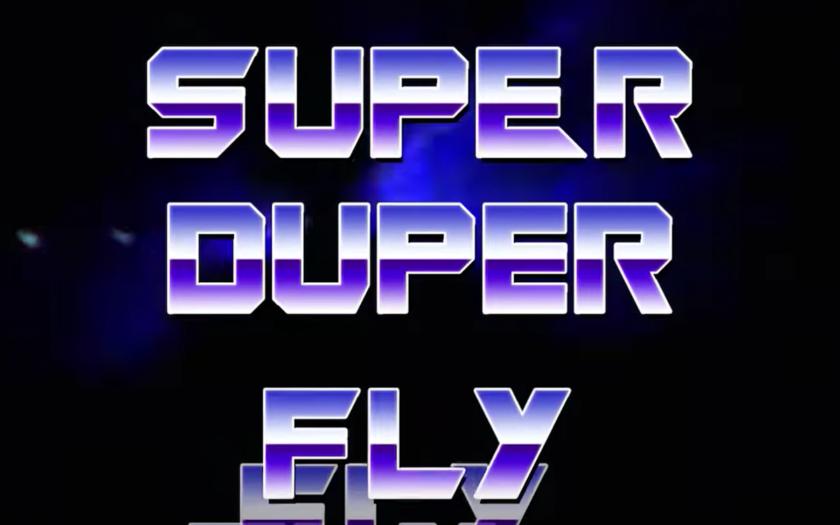screenshot from super fly lyric video