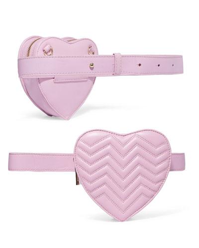 MAJE Quilted leather belt bag