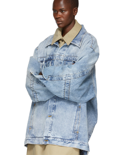 Maison Margiela Blue Oversized Denim Jacket