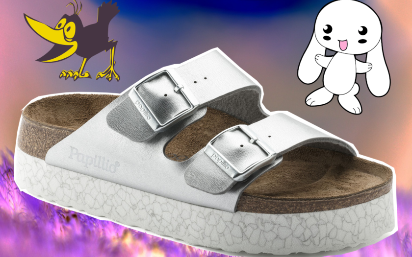 Metallica platform arizona birkenstock sandals