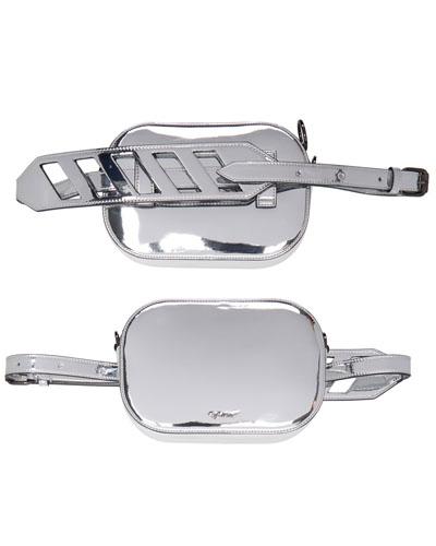 Off-White Silver Mirror Belt Bag