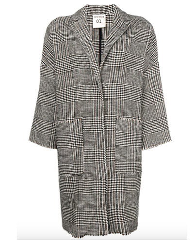 SEMICOUTURE oversize checked coat