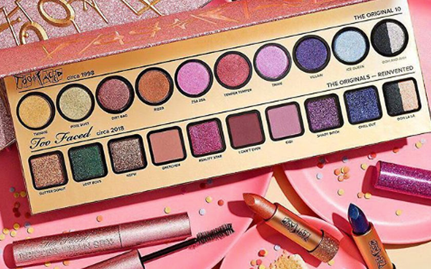 too faced birthday eyeshadow lipsticks mascara