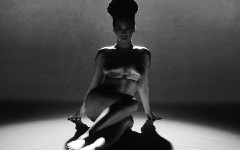 Beyonce models the Zana Bayne Bullet Bra