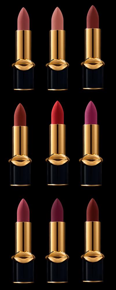nine new shades of Pat McGrath MatteTrance™ Lipstick