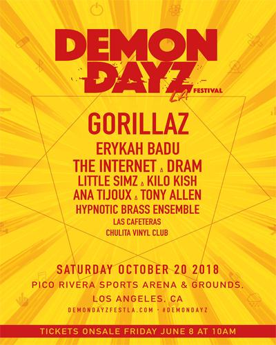 Demon Dayz LA Festival 2018 Lineup