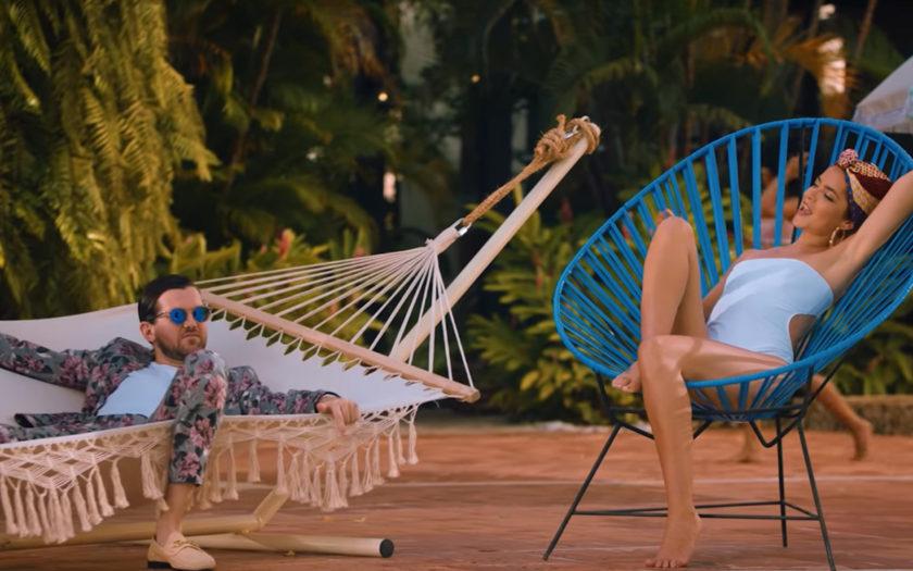 screenshot from white boi music video