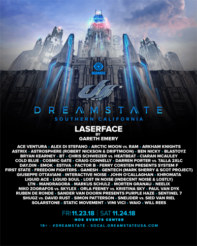 Dreamstate So Cal 2018 line up