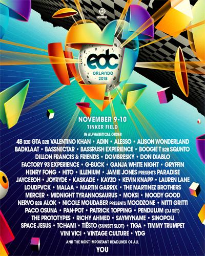 EDC Orlando 2018 lineup