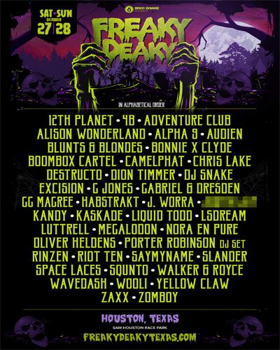 Freaky Deaky Texas 2018 lineup