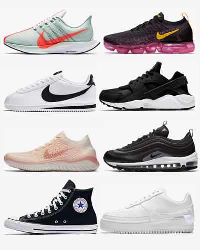 8 pairs of womens nikes