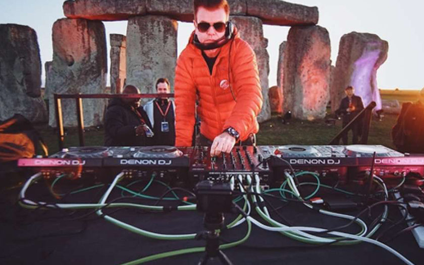 paul oakenfold DJing at Stonehenge 2018