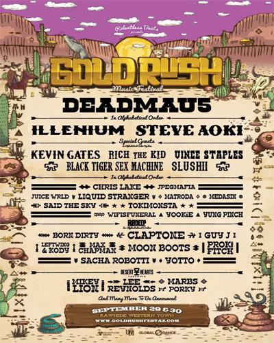 goldrush music festival 2018 lineup