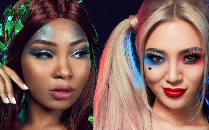poison ivy and harley quinn by DC comics x nyx cosmetics
