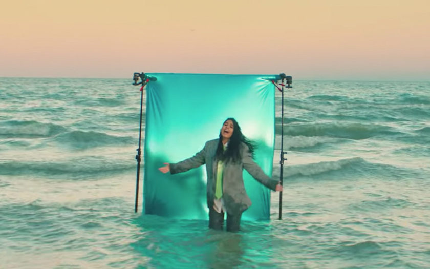 screenshot from trust my lonely video alessia cara standing in the ocean