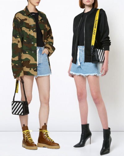 OFF-WHITE diag stripe crossbody bag