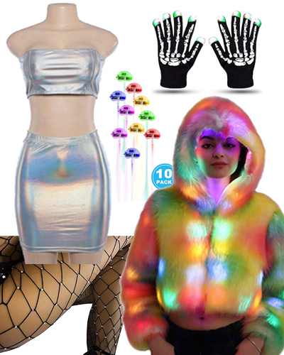 amazon led rave outfit