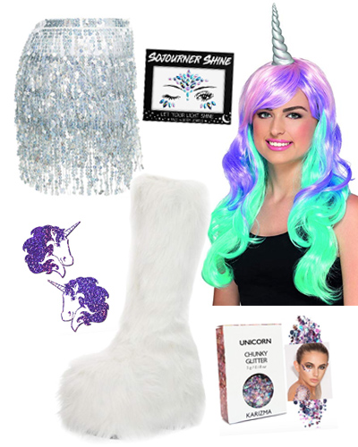 amazon unicorn rave outfit