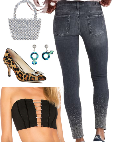 crystal embellished outfit