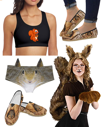 squirrel fall thanksgiving rave outfit
