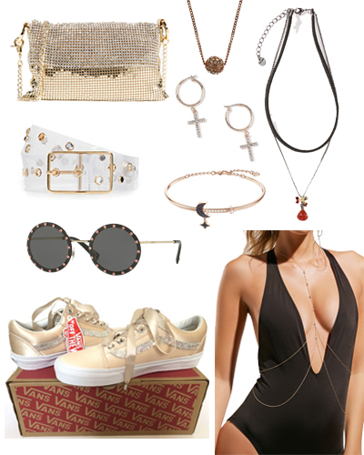 gold crystal jewelry and accessories