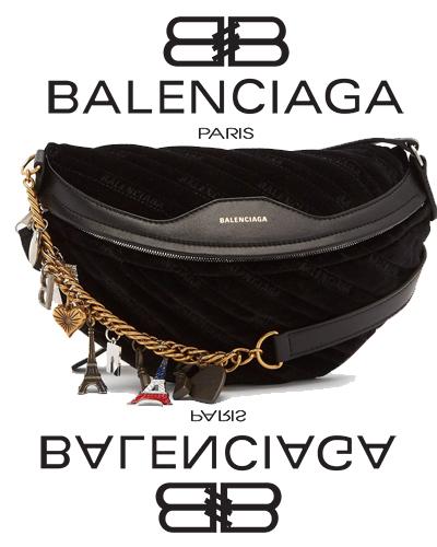 Balenciaga Black Small Souvenir Charm Bag 1890