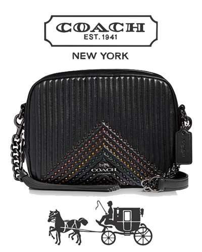 COACH Small Rivets Quilted Leather Camera Bag 350