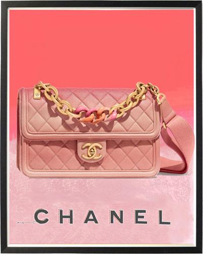 Chanel flap bag Grained Calfskin, Resin & Gold-Tone Metal 4900