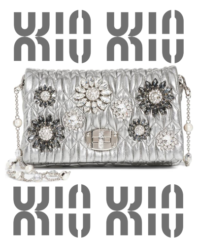 Crystal Embellished Leather Crossbody MIU MIU 1950