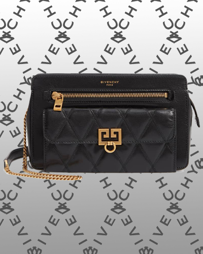 Diamond Quilted Leather Crossbody Bag GIVENCHY 1890