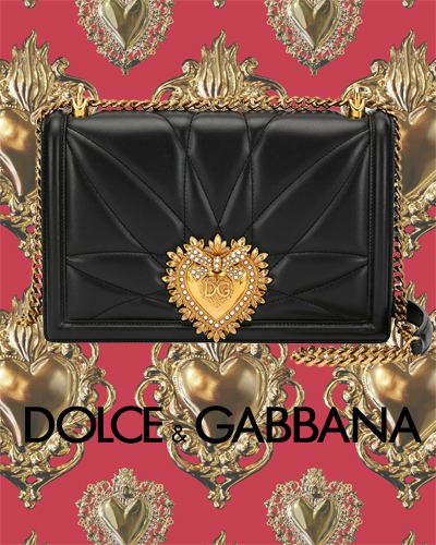 Dolce & Gabanna Devotion Large Quilted Crossbody Bag 2195