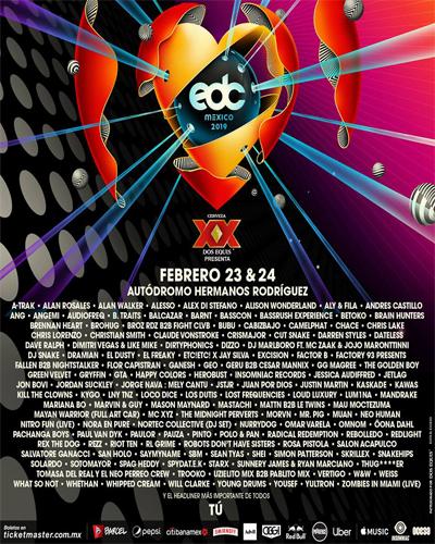 EDC MEXICO 2019 LINEUP