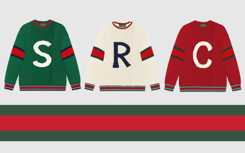 Gucci DIY Knitwear Initials spell out S R C