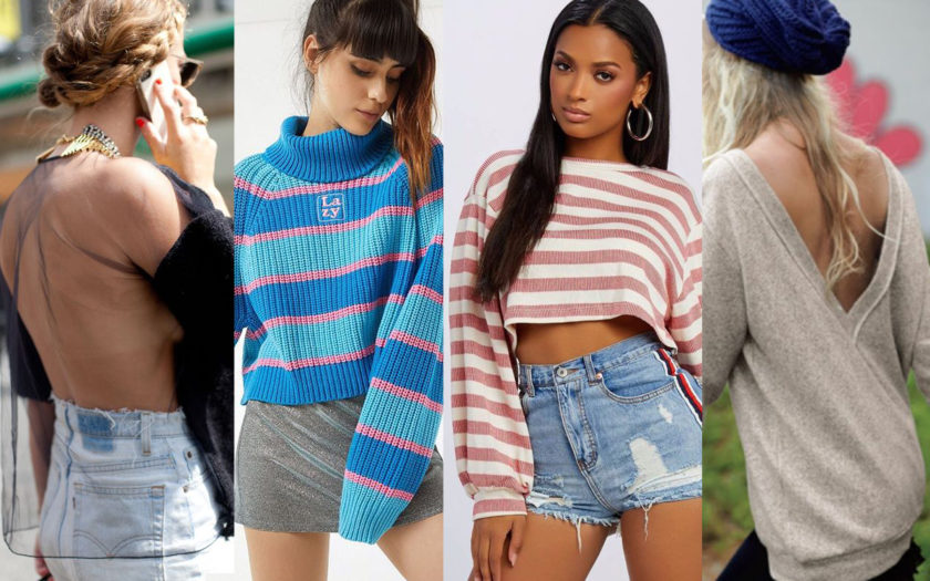 four styles of sexy fall sweaters