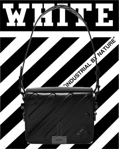 Off-White Black Padded Diagonal Flap Bag 1690