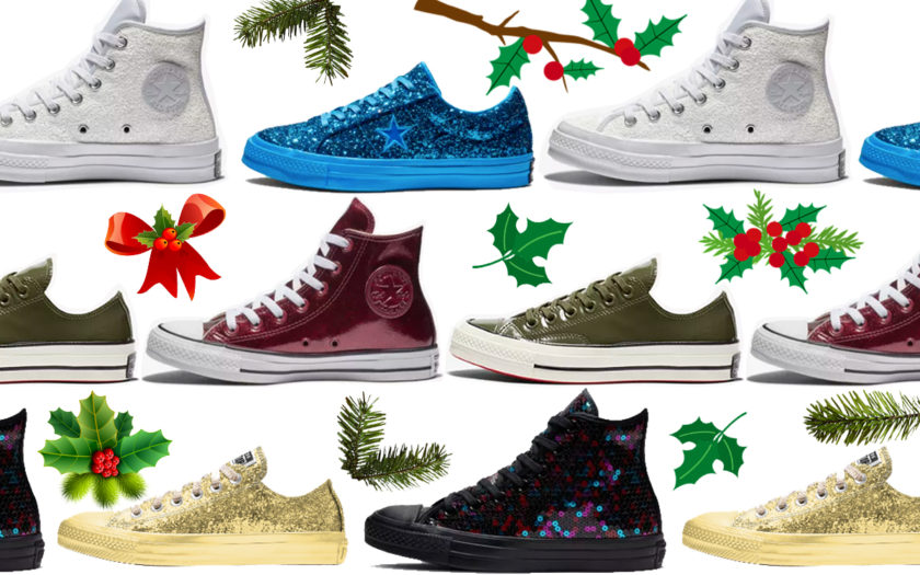 42ea24a23fda Shiny Chuck Taylors   One Stars Are Here for the Holidays - Slutty Raver  Costumes